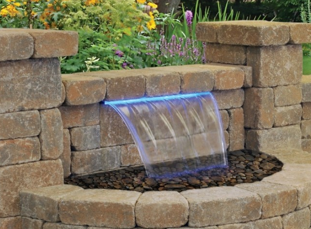 Colored Water Feature